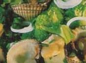 Salade petits bouquets chou-fleur brocoli coques Muscadet
