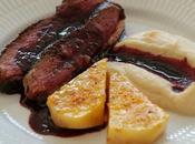 Magret canard porto céleri cuissons