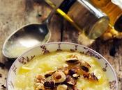 Dernières petites idées avant… avant, quoi Velouté pâtisson noisettes l'huile d'olive arôme truffe blanche…