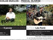 ...''ça passe casse'' Forum Ferré Nicolas Duclos concert janvier 2014...