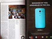 Motorola vous permet changer couleur Moto publicité papier