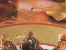 Canette laquée figues sèches confites miel chataîgnier