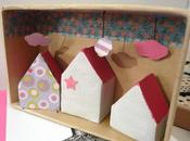 Maisons d'argile dans leur boîte