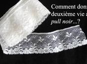 pull manches dentelle