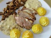Magret canard sauce foie gras