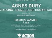 Conférence Agnès Dury assassinat d'une jeune humanitaire