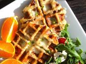 Gaufres pommes terre, bacon oignons versions)