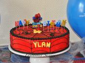 Gâteau d'anniversaire Spiderman (Spiderman birthday cake)