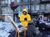 KIEV: peintre barricades