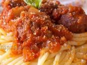 Spaghetti boulettes viande l'italienne
