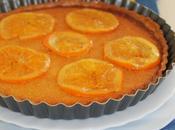 Tarte l'orange, crème d'amande oranges confites