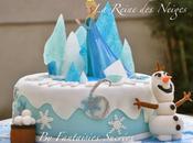 Reine Neiges: gâteau d'anniversaire (pâte sucre)