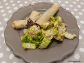 Nems confit canard d'oignon pignons Duck confit, onion pine nuts spring rolls