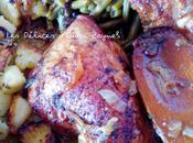 Cuisses poulet four légumes