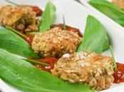 Bouchées jeunes poireaux panés noisette, sauce tomate relevée