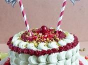 Pistachio Pomegranate Cranberry Layer Cake Pistache, Cranberries Grenade