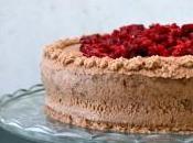 Layer cake damier chocolat framboise