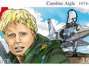 Emission d'un timbre l'honneur Caroline Aigle