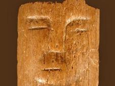 baguette rituelle 9000 avec visages humains découverte Syrie