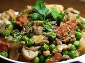 Poulet gourmand [Chorizo, champignons, petit pois menthe]