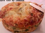 Clafoutis salés Epinards/Julienne légumes/ Mozzarella