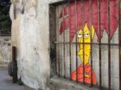 artiste urbain s'amuse avec personnages préférés street