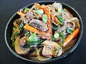 Japchae (nouilles coréennes boeuf légumes)