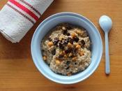 Porridge gourmand d'avoine, chocolat, orange confite, parfum praliné