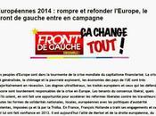 Front Gauche élections européennes 2014 demandez programme