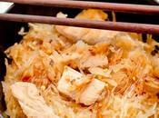 choucroute, porc, nouille soja
