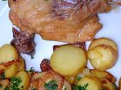 Cuisses canard confit, pommes terre sarlardaises