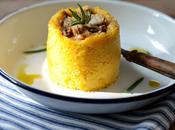 Gâteaux individuels polenta champignons
