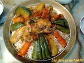 Couscous marocain d'orge poulet légumes