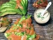 Salade saumon fumé l'avocat