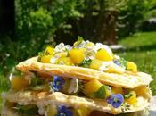 Layer Cake Printanier mangue toute fraîcheur, petit suisse petites crêpes légères