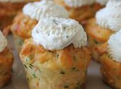 Mini Cupcakes saumon ciboulette fromage frais