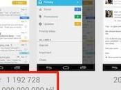 Gmail pour Android franchi milliard téléchargements