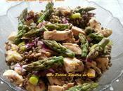 Salade Lentilles-Asperges-poulets