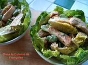 Salade Poulet avec croûtons maison fèves