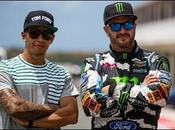 Block affronte Lewis Hamilton (Voiture Rallye Formule
