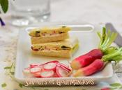 Club Sandwich Radis Roses Moutarde Savora.