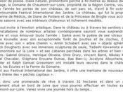 """Domaine Chaumont-sur-loire Jardins péchés capitaux""""-Festival International jardins"""