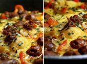 Omelette gourmande merguez