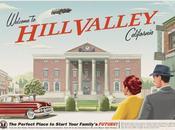 Retour vers futur ville Hill Valley reconstruite