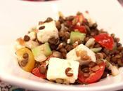 Salade lentilles, tomates, concombre féta