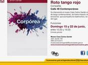 Danse contemporaine Museo Casa Carlos Gardel deux dimanches l'affiche]