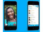 Skype pour iPhone version nouveau design moderne