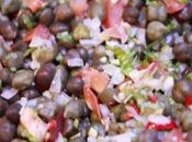Harbara chaat Salade pois chiches verts green chick salad