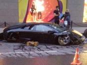 Lamborghini s'écrase dans Moscou Photo