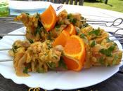 Brochettes poulet mariné Agrumes